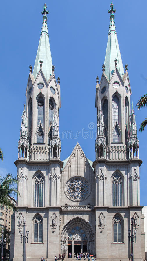 Download Se Cathedral Sao Paulo Brazil Stock Image - Image of church, green: 26647631
