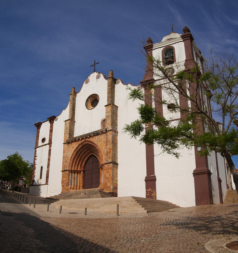 Se Cathedral of Silves, Algarve royalty free stock photography