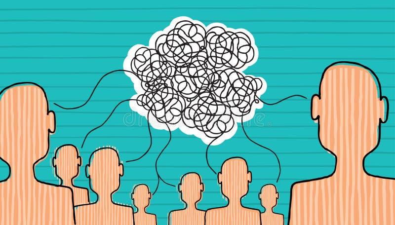 Se construye la comunicación stock de ilustración