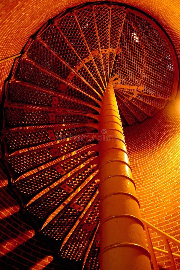 Se développent en spirales l'escalier images stock