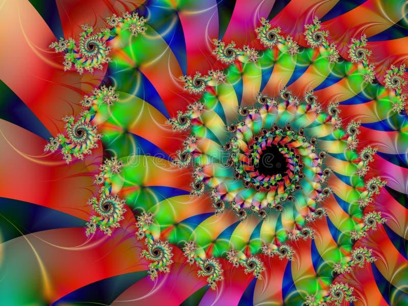 Se développent en spirales la fractale illustration libre de droits