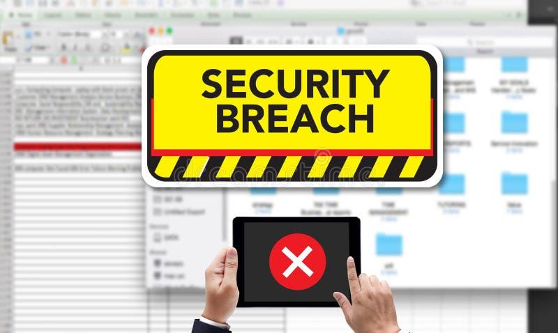 SE da senha do crime de computador do ataque do Cyber da ruptura de segurança informática imagem de stock