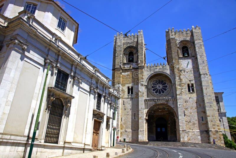 Se de里斯本大教堂,里斯本,葡萄牙 图库摄影