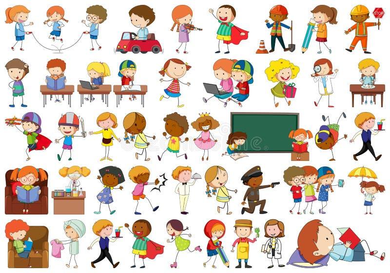 SE de crianças simples ilustração do vetor