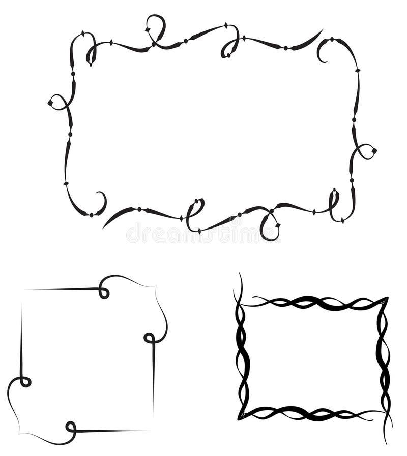 SE de frames decorativos ilustração do vetor