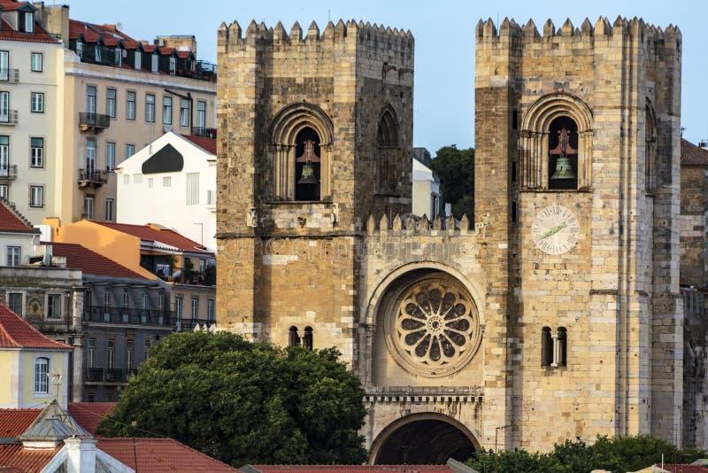 Se De Lisbonne de cath?drale de Lisbonne image libre de droits