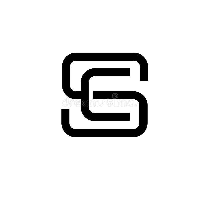 Se della lettera, concrpt di logo dello Sc royalty illustrazione gratis