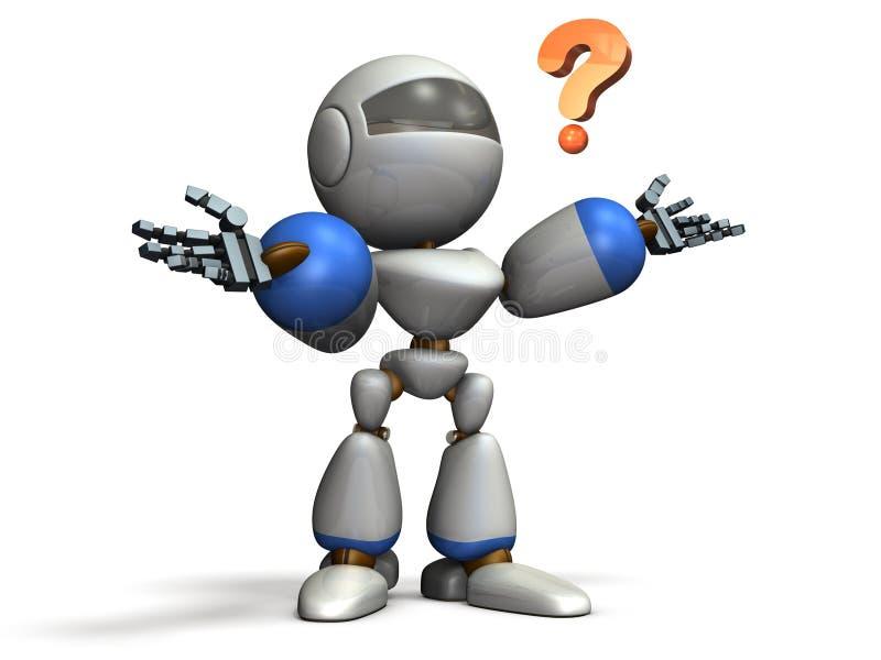 Se desconcierta el robot del niño ilustración del vector