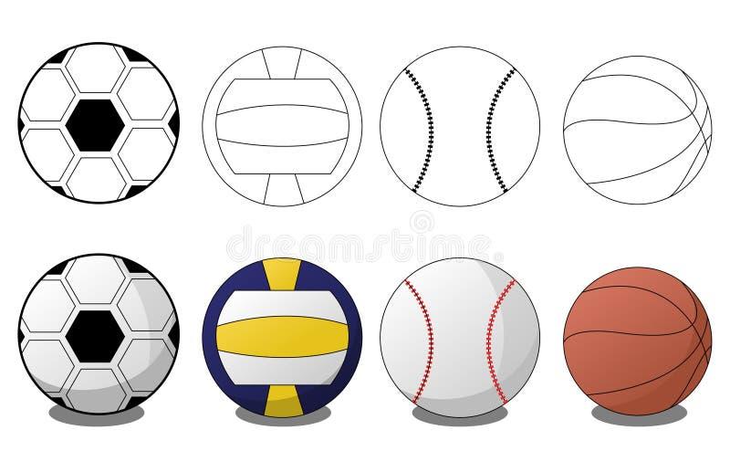 Se divierte bolas stock de ilustración