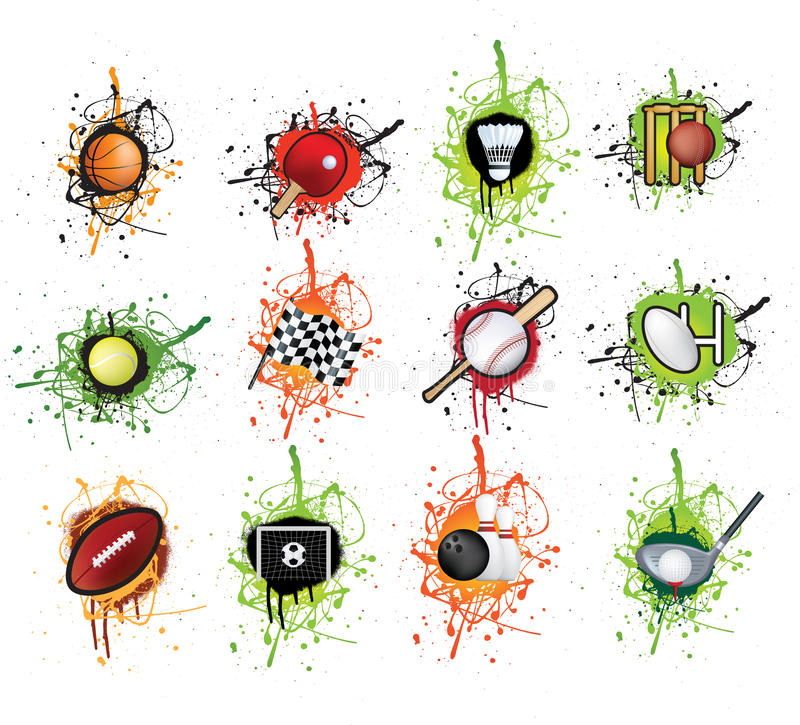 Se divierte el grunge del icono libre illustration