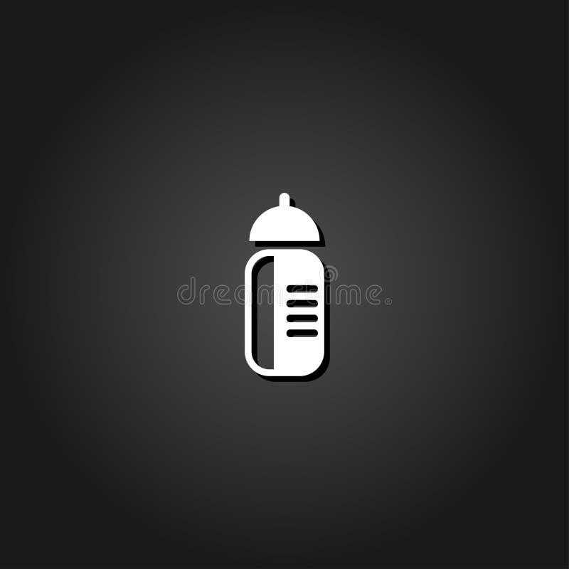 Se divierte el icono de la botella de agua completamente libre illustration