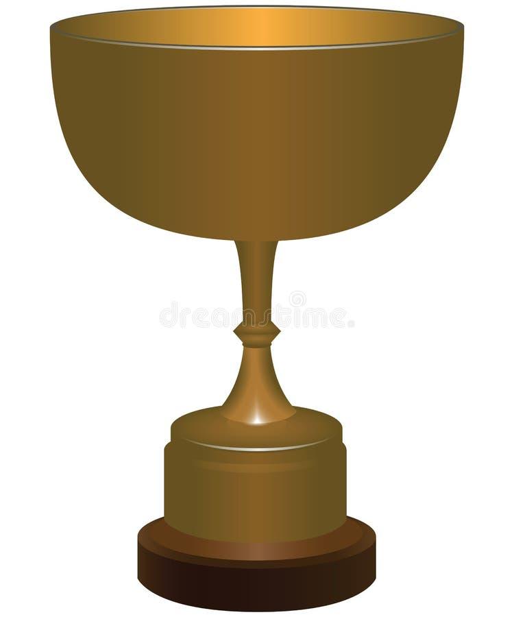 Se divierte el trofeo ilustración del vector