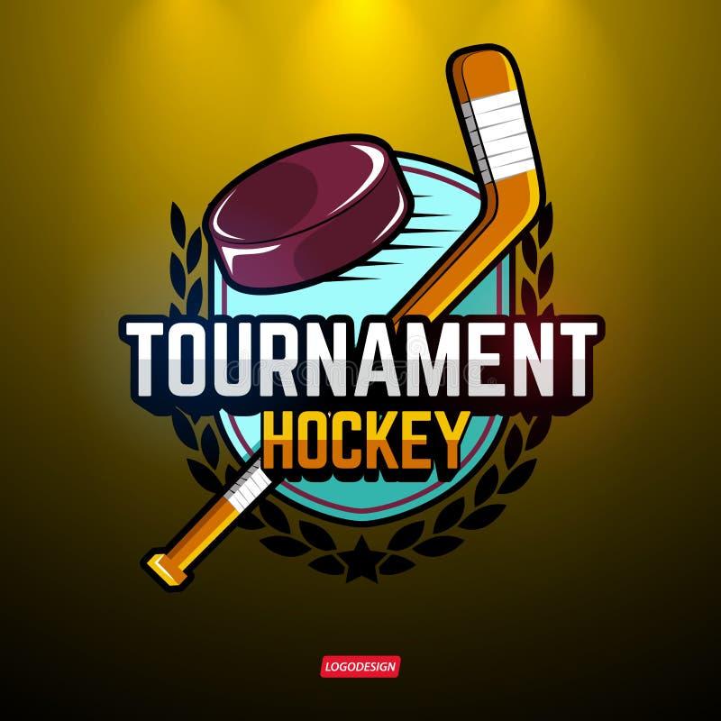 Se divierte los logotipos para el hockey libre illustration