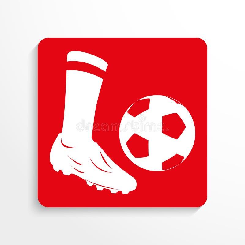 Se divierte símbolo Fútbol Engrana el icono libre illustration