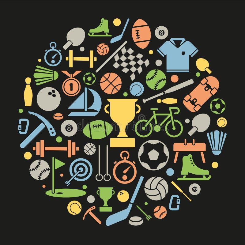 Se divierte símbolos en un círculo libre illustration