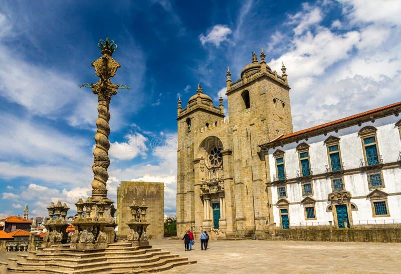 Se doet Porto (Porto Kathedraal) stock afbeeldingen