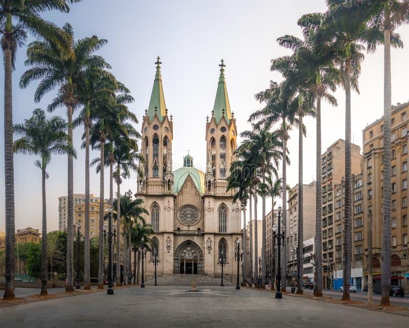 Se-domkyrka - Sao Paulo, Brasilien royaltyfria bilder
