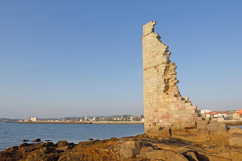 se eleva en la provincia de Cambados, Pontevedra, Galicia, España fotos de archivo libres de regalías