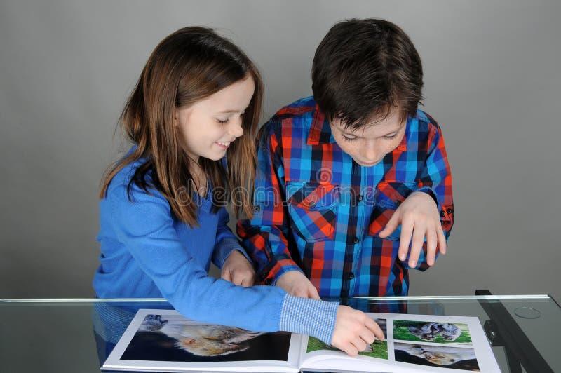 Se en bok royaltyfria bilder