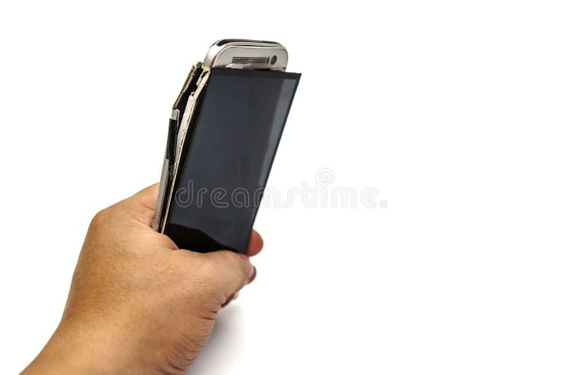 Se eu jogo, arruinará nossos telefones foto de stock royalty free