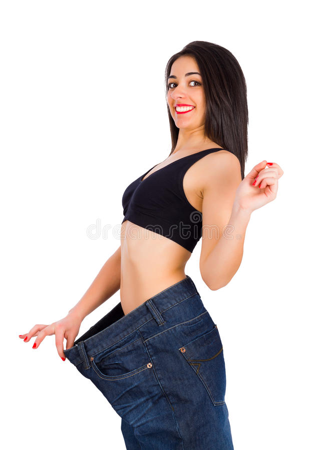 Se eu poderia perder o peso, você pode, demasiado fotografia de stock