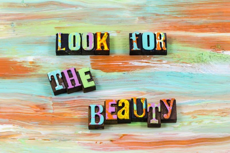 Se för härlig citationstecknet för boktryck livförälskelse för skönhet det levande royaltyfri foto