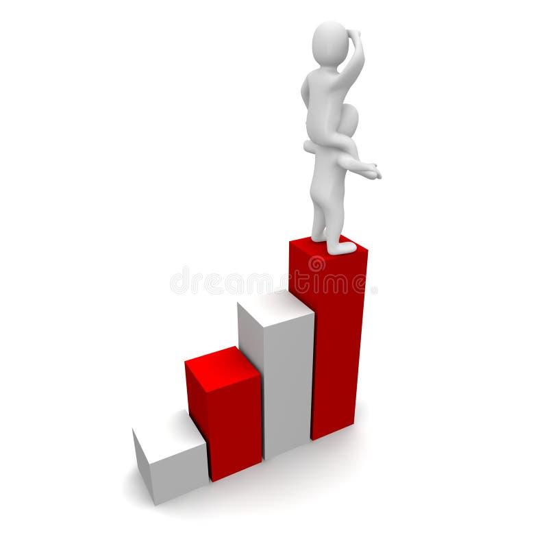 se för tillväxt stock illustrationer