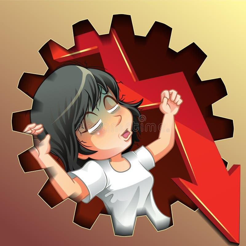 Se falla el negocio del vector libre illustration