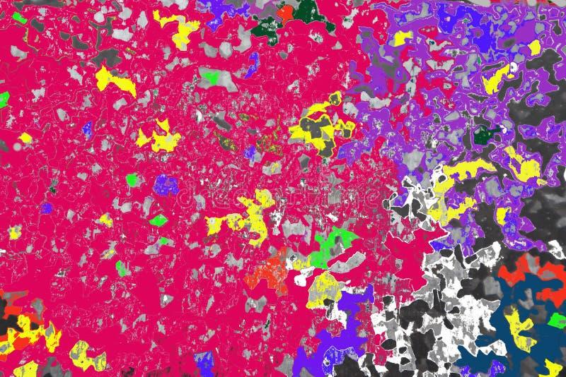 Se från himlen till världen, liksom öar, vattenkroppar eller färgrika beskåda områden arkivbild