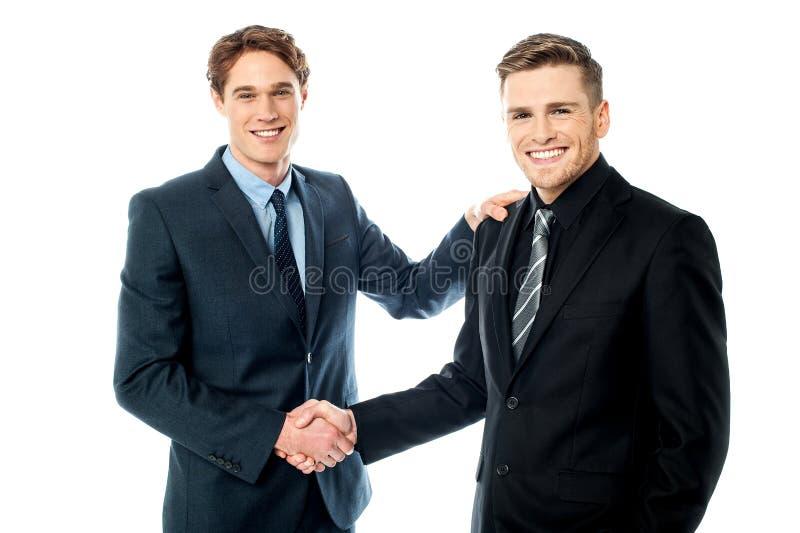 Se ha concluido el trato. foto de archivo
