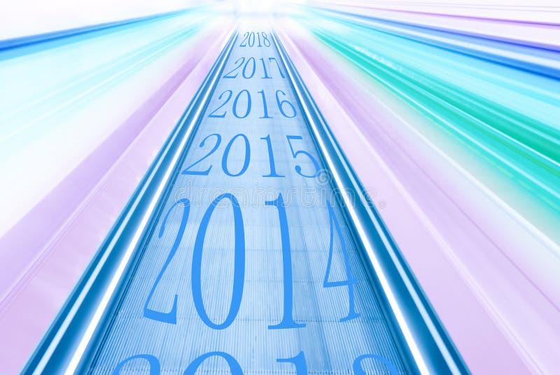 Se imprime en la cronología indicar el principio de 2014 fotografía de archivo libre de regalías