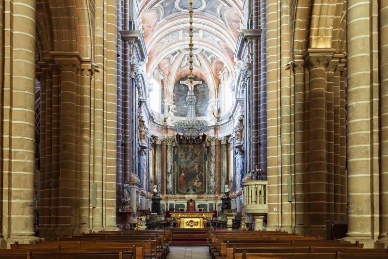 Se katedra, Evora obrazy royalty free