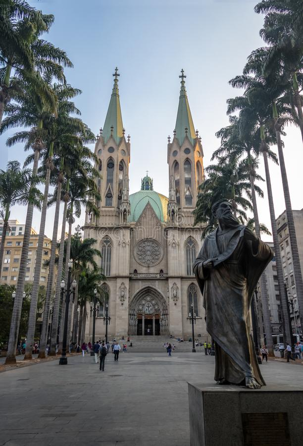 Se katedra - Sao Paulo, Brazylia zdjęcia stock