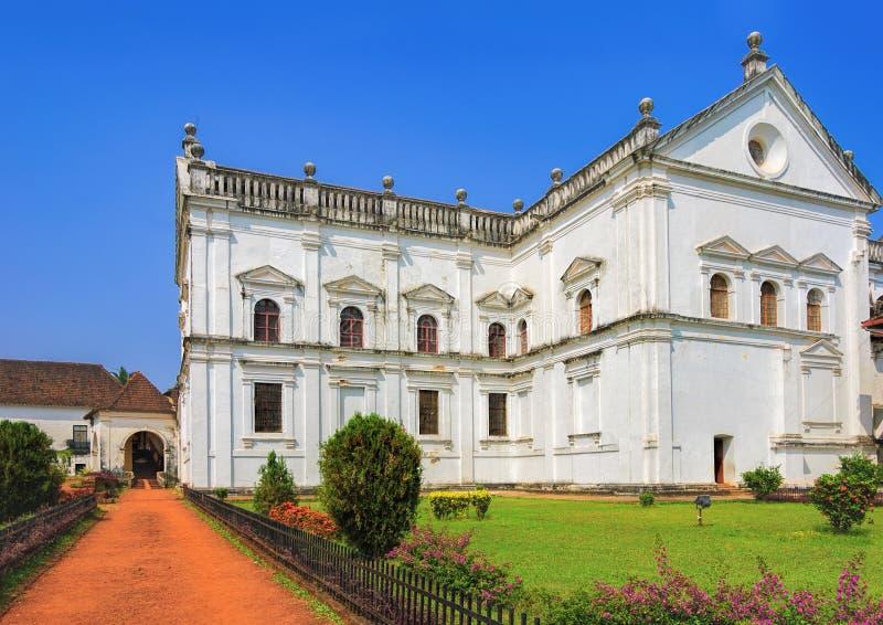 Se katedra w Starym Goa, India obraz royalty free