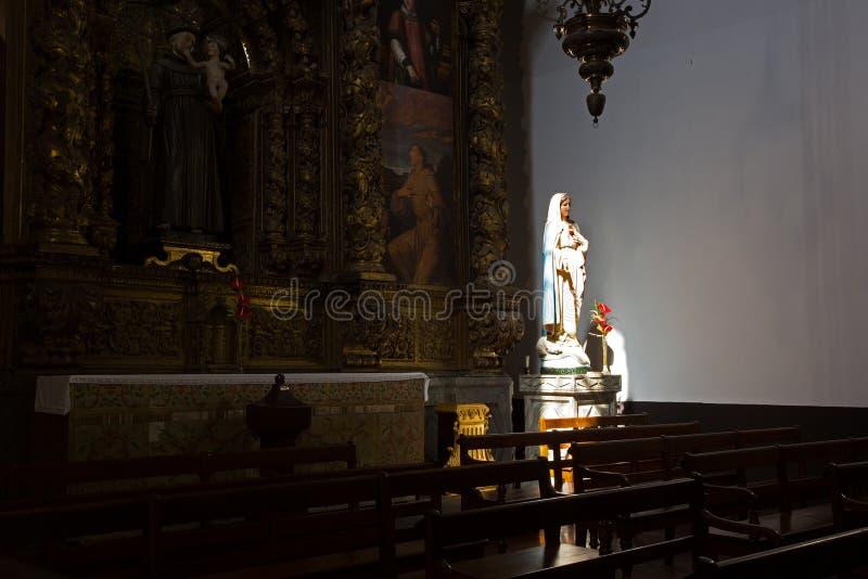 Se Katedralny wnętrze, Funchal, madera fotografia royalty free
