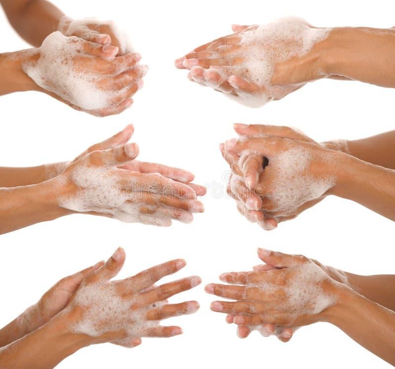 Se laver les mains photographie stock