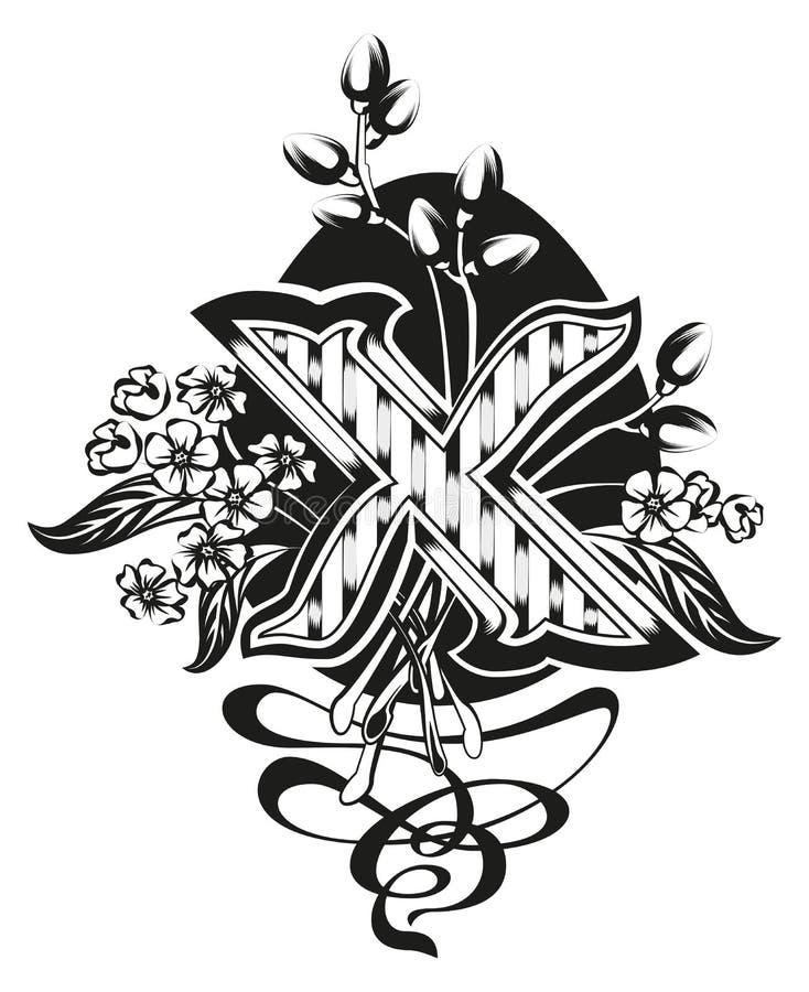 Se levanta Cristo símbolos de pascua Muestra ortodoxa de Pascua libre illustration