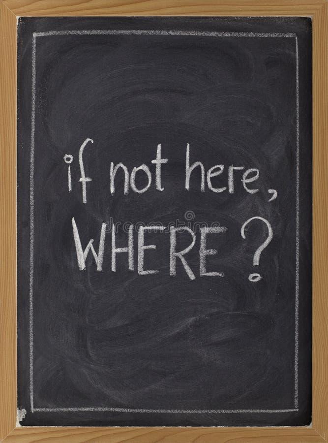 Se não aqui, onde? foto de stock royalty free