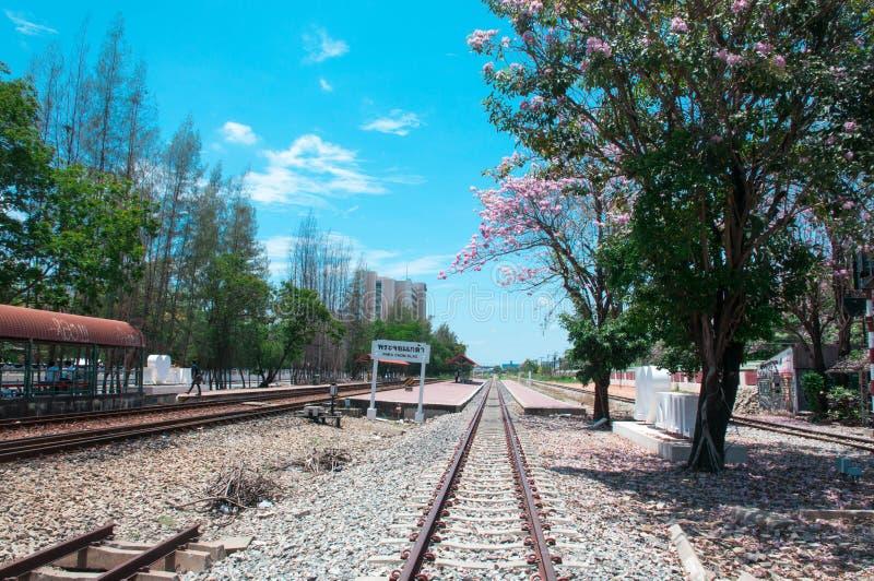 Se nästan järnväg royaltyfria bilder