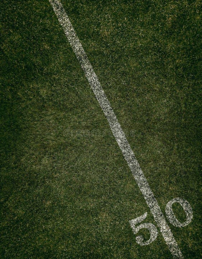 Se ner på linjen för gård 50 arkivbilder