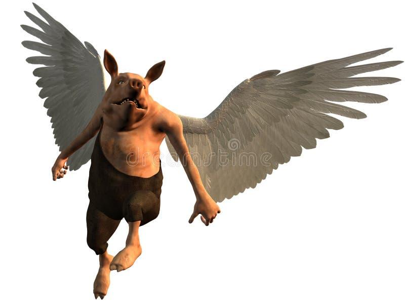 Se os porcos poderiam voar ilustração do vetor