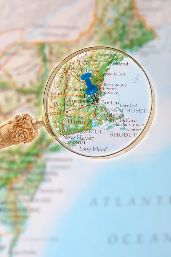 Se in på Boston Massachusetts fotografering för bildbyråer