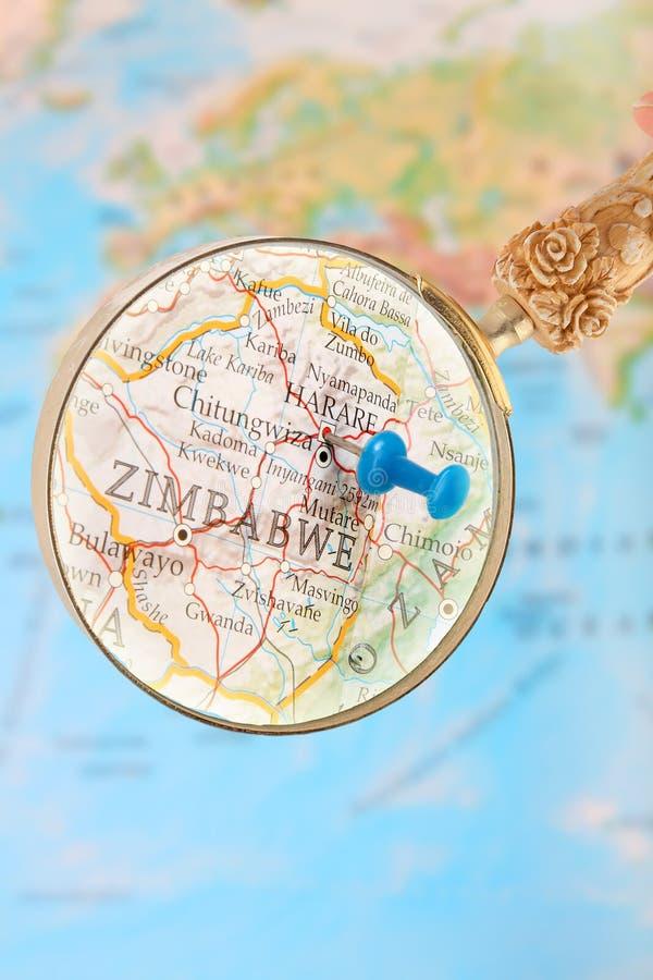 Se in på Harare, Zimbabwe, Afrika royaltyfria foton