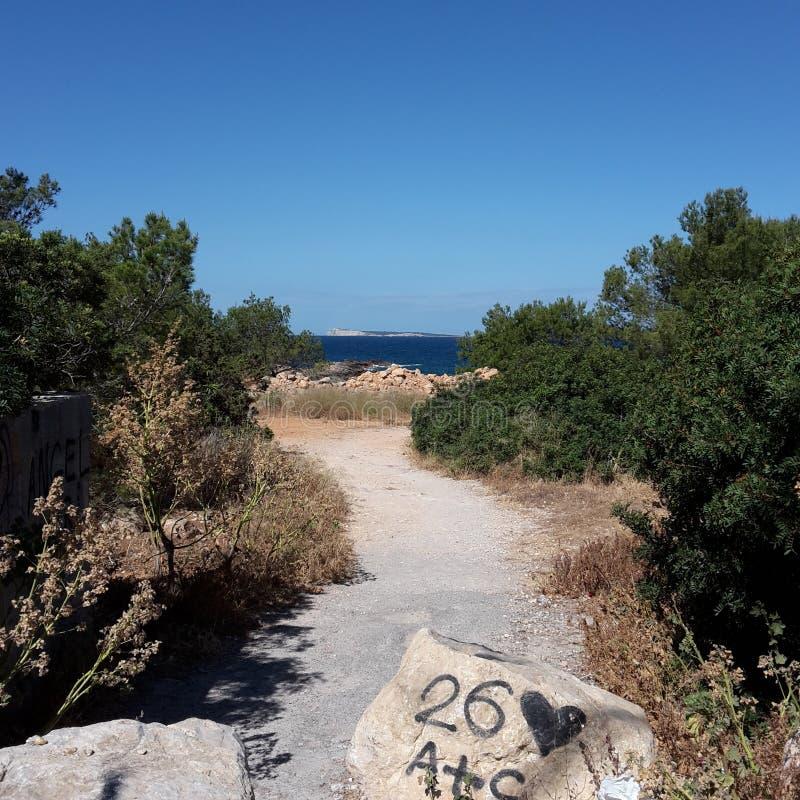 Se på Ibiza royaltyfria foton