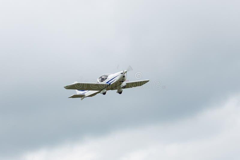 Se parquea el jet privado foto de archivo