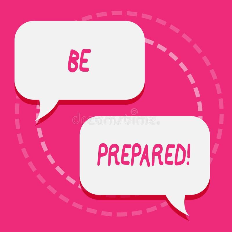 Se prepare el texto de la escritura El intento del significado del concepto esté siempre listo para hacer o para ocupar algo del  stock de ilustración