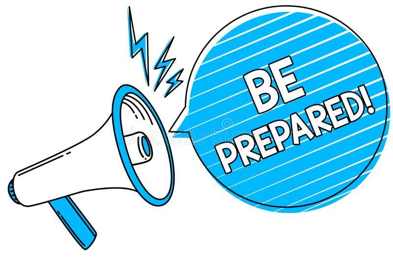 Se prepare el texto de la escritura de la palabra Concepto del negocio para conseguir listo para sea cual sea sucederá loudspeake libre illustration