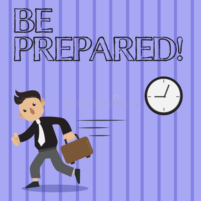 Se prepare el texto de la escritura de la palabra El concepto del negocio para el intento esté siempre listo para hacer o para oc libre illustration