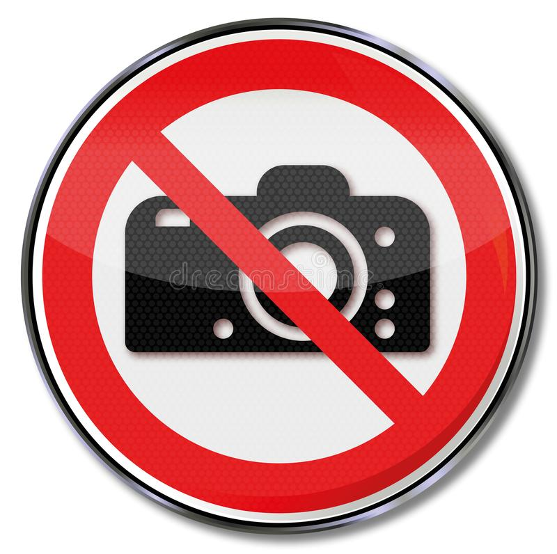 Se prohíbe fotografiar stock de ilustración