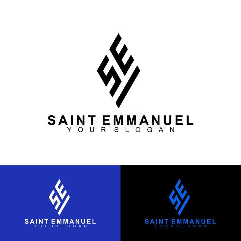 SE Projekt początkowego logo Logo Precision Święty Emmanuel ilustracji